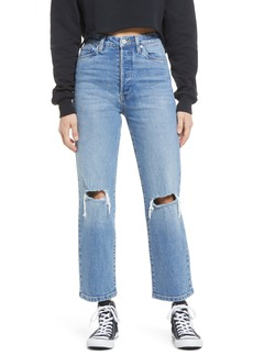 BLANKNYC Baxter Ripped High Waist Wide Leg Jeans (Whirlwind)