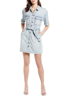 BLANKNYC Belted Denim Minidress (Caribbean Blue)