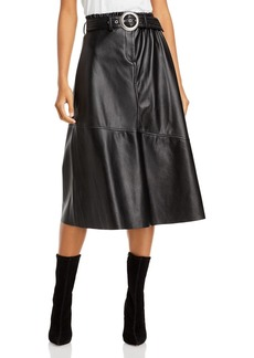 BLANKNYC Belted Faux Leather Midi Skirt