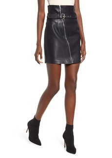 BLANKNYC Belted Faux Leather Miniskirt