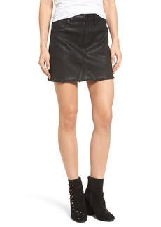 BLANKNYC Black Jack Coated Denim Miniskirt