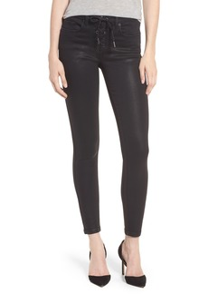 BLANKNYC Black Jack Lace-Up Skinny Jeans (Smoked Out)