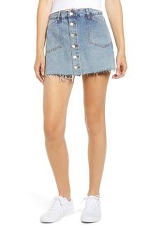 BLANKNYC Button Front Denim Miniskirt