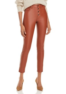 BLANKNYC Button-Front Faux-Leather Skinny Pants - 100% Exclusive