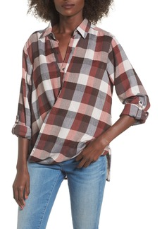 BLANKNYC Check Wrap Front Shirt
