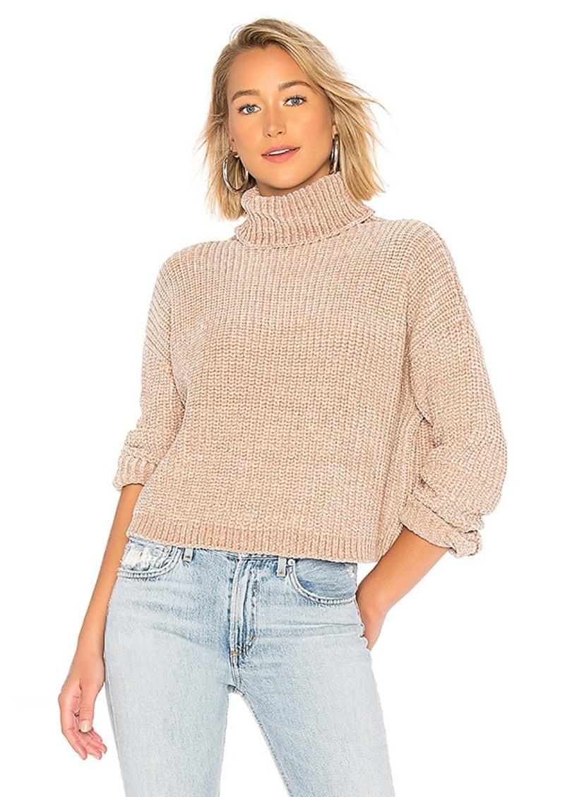 BLANKNYC Chenille Turtleneck Sweater