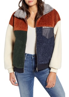 BLANKNYC Colorblock Faux Fur Jacket
