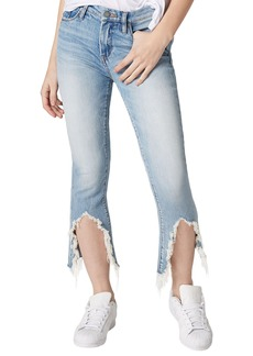 BLANKNYC Constant Convo Distressed Hem Jeans