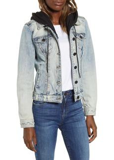 BLANKNYC Contrast Hood Denim Jacket
