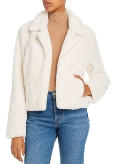BLANKNYC Cropped Faux-Fur Jacket