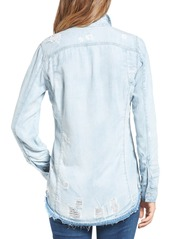 BLANKNYC Destroyed Denim Shirt