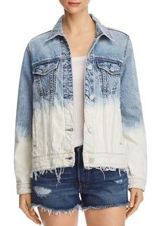 BLANKNYC Dip-Dye Embroidered Denim Jacket - 100% Exclusive