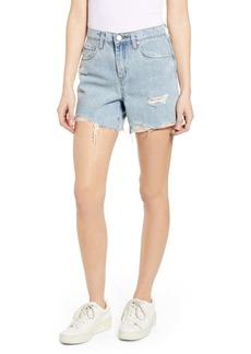 BLANKNYC Distressed Acid Wash Denim Mom Shorts