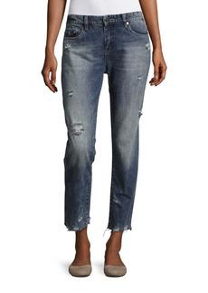 BLANKNYC Distressed Boyfriend Ankle Jeans