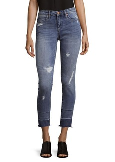 BLANKNYC Distressed Cropped Jeans