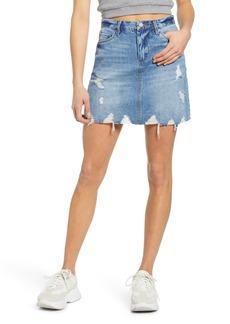 BLANKNYC Distressed Denim Miniskirt (Love It or Leave It)
