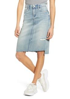BLANKNYC Distressed Denim Pencil Skirt (Beach View)