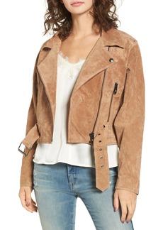 BLANKNYC Dolman Sleeve Sueded Moto Jacket
