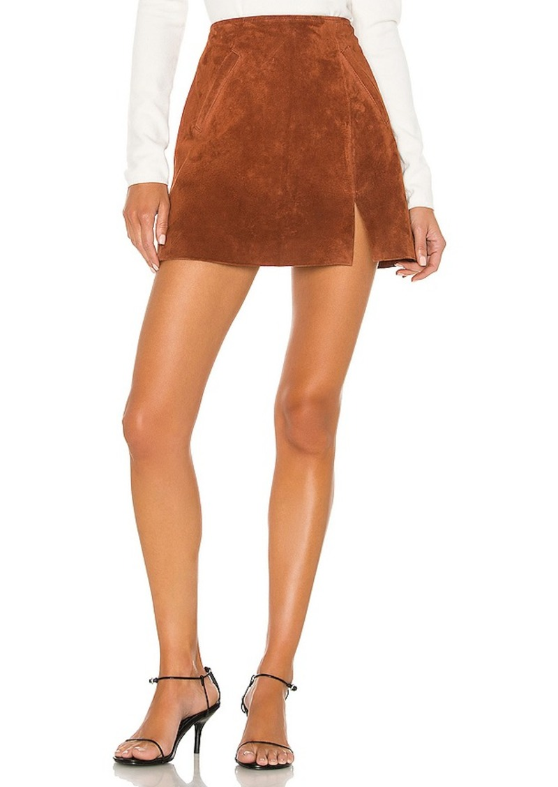 BLANKNYC Dried Tobacco Suede Mini Skirt