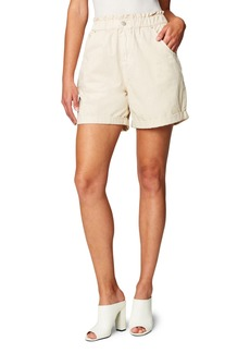 BLANKNYC Elastic Waist Cotton Poplin Shorts
