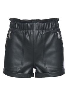 BLANKNYC Elastic Waist Faux Leather Shorts