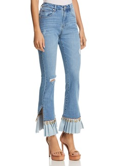 BLANKNYC Embellished Flared Jeans in Love Cry - 100% Exclusive