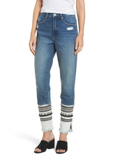 BLANKNYC Embellished Straight Leg Jeans (Miss Molly)