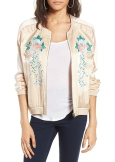 BLANKNYC Embroidered Bomber Jacket