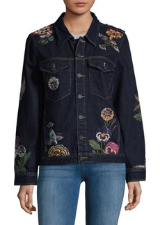 BLANKNYC Embroidered Cotton Jacket