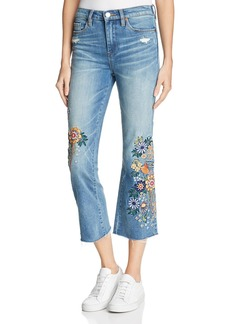 BLANKNYC Embroidered Cropped Flared Jeans in Delaytionship