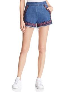 BLANKNYC Embroidered Denim Cutoff Shorts