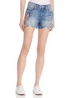 BLANKNYC Embroidered Denim Cutoff Shorts in Wild Child - 100% Exclusive