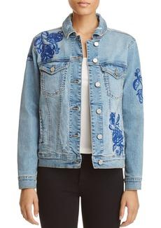 BLANKNYC Embroidered Denim Jacket - 100% Exclusive