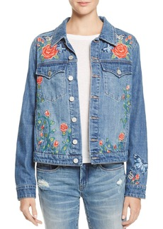 BLANKNYC Embroidered Denim Jacket - 100% Exclusive