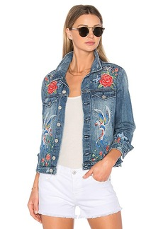 BLANKNYC Embroidered Denim Jacket. - size M (also in S,XS)