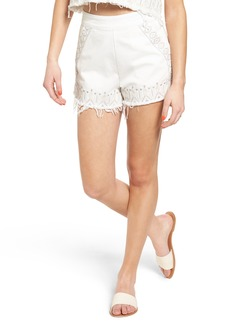 BLANKNYC Embroidered Denim Shorts (Snowflake)