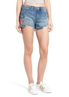 BLANKNYC Embroidered Denim Shorts (Whild Child)
