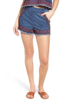 BLANKNYC Embroidered Denim Shorts (Wild Ones)