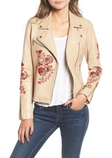 BLANKNYC Embroidered Moto Jacket
