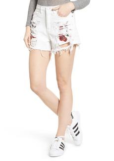 BLANKNYC Embroidered Pocket Denim Shorts (Lightbox)