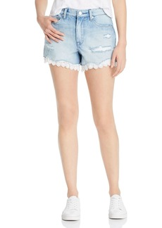 BLANKNYC Eyelet-Trim Denim Shorts in No Thrills