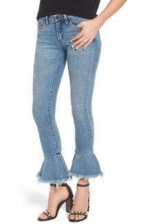 BLANKNYC Fancy That Ruffle Hem Skinny Jeans (Fancy That Blue)