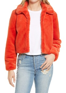 BLANKNYC Faux Fur Crop Jacket