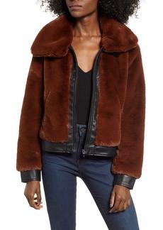 BLANKNYC Faux Fur Jacket