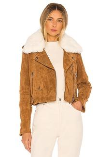 BLANKNYC Faux Fur Moto Jacket