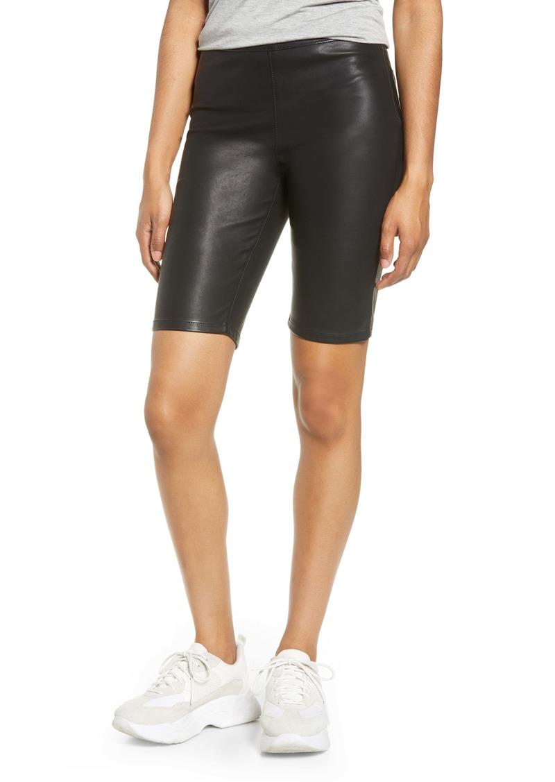 BLANKNYC Faux Leather Biker Shorts
