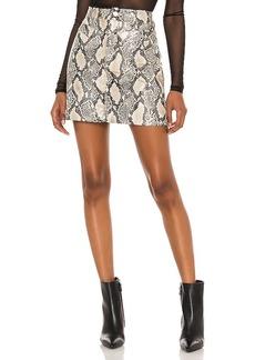 BLANKNYC Faux Leather Bodycon Mini Skirt