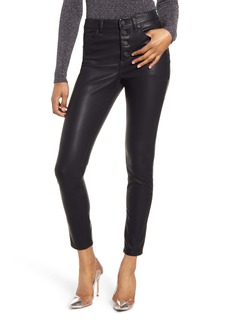 BLANKNYC Faux Leather Button Front Pants