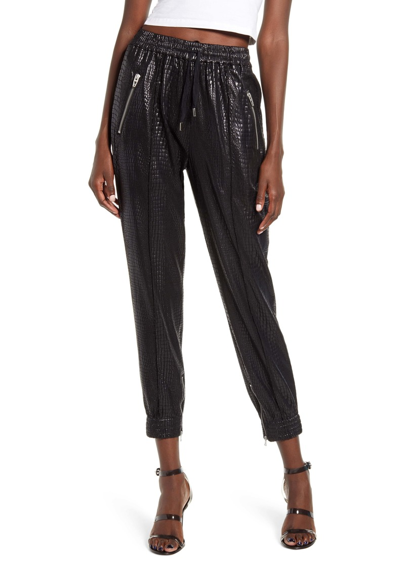 BLANKNYC Faux Leather Drape Front Pants