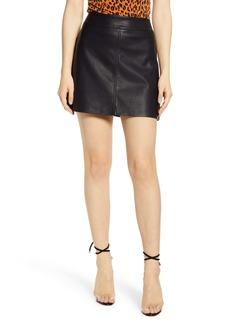 BLANKNYC Faux Leather Miniskirt